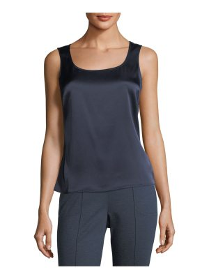 St. John Liquid Satin Scoop-Neck Tank