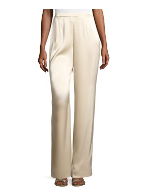 St. John Liquid Satin Wide-Leg Pants