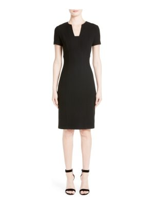 St. John micro boucle knit dress