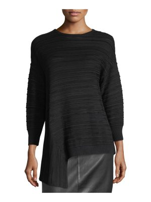 St. John Plisse Knit Sweater