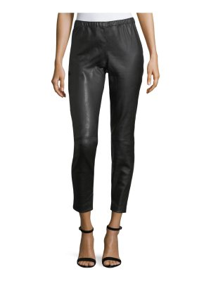 St. John Stretch Leather Cropped Leggings