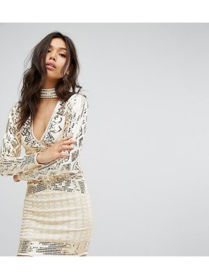 Starlet Plunge Front Mini Dress with Choker Detail