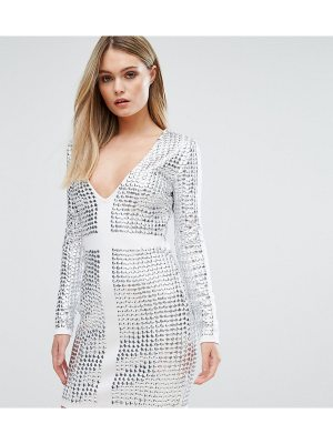 Starlet V Front Mini Dress with All Over Studs