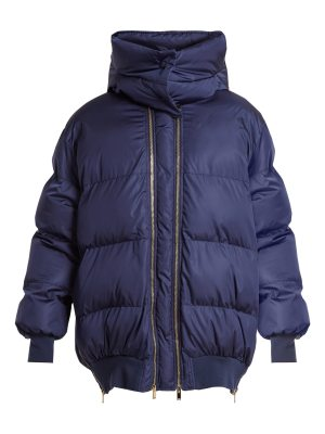Stella McCartney Detachable-hood quilted jacket