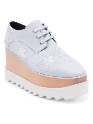 Stella McCartney elyse denim star wedges