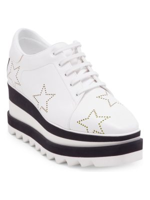 Stella McCartney elyse metallic star sneaker wedges