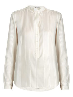Stella McCartney Eva twisted-stripe silk shirt