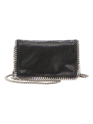 Stella McCartney falabella faux leather fold-over chain crossbody bag