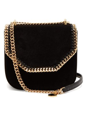Stella McCartney Falabella velvet cross-bag