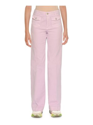 Stella McCartney High-Waist Coin-Pockets Wide-Leg Denim Pants