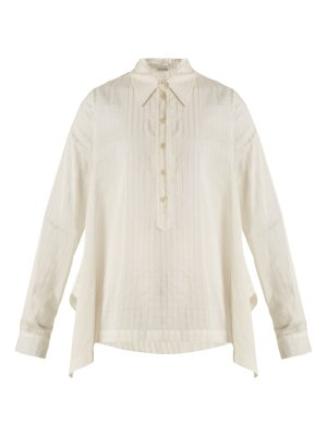Stella McCartney Kristen striped cotton and silk-blend shirt