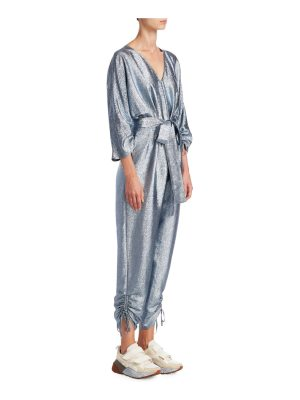 Stella McCartney lurex tie-waist jumpsuit
