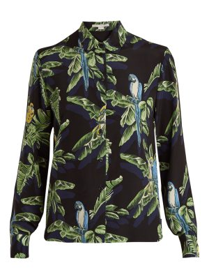 Stella McCartney Parrot-print silk shirt