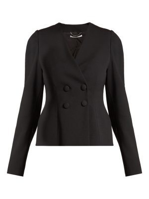 Stella McCartney Peyton wool-blend double-breasted cropped jacket