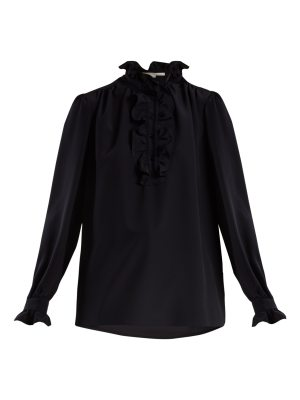 Stella McCartney Ruffle-trimmed silk crepe de Chine blouse