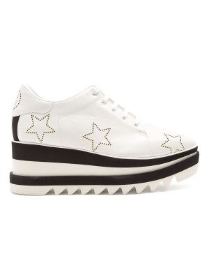 Stella McCartney Sneak-Elyse lace-up perforated-star platform shoes