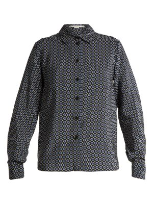 Stella McCartney Wilson Tie-print silk shirt