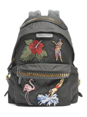 Stella McCartney zip embroidered backpack