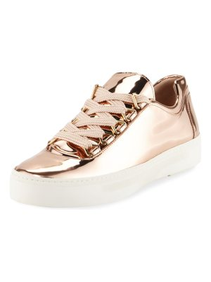 Stuart Weitzman Gaming Metallic Lace-Up Sneakers