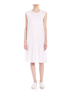 T by Alexander Wang crewneck overlap dress