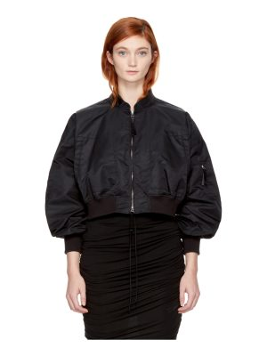 T by Alexander Wang Cropped Nylon Bomber Jacket