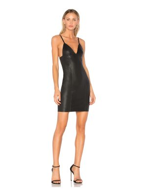 T by Alexander Wang Fitted Leather Dress