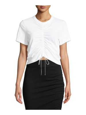 T by Alexander Wang Gathered-Front Adjustable T-Shirt