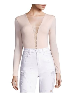 T by Alexander Wang lace-up long sleeve bodysuit