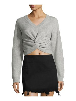 T by Alexander Wang Long-Sleeve Twist-Front Sweater