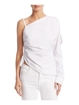 alexanderwang.t one-shoulder cotton ruched top