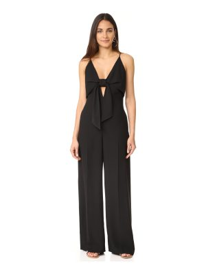 T by Alexander Wang sleeveless tie front jumpsuit