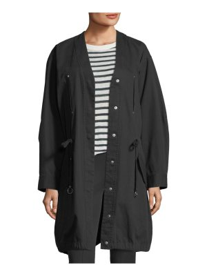 T by Alexander Wang Snap-Front Oversized Washed Cotton Twill Jacket