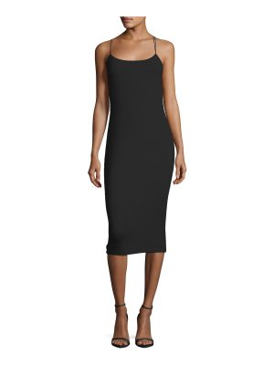 T by Alexander Wang Strappy Stretch Midi Dress