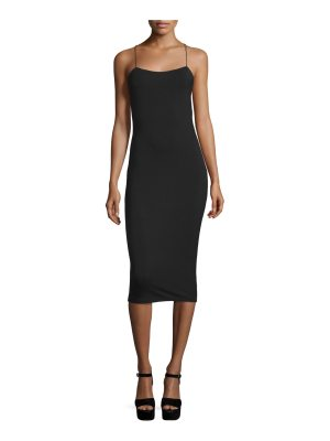 alexanderwang.t Strappy Stretch Midi Dress