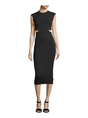 T by Alexander Wang Stretch-Jersey Fitted Cocktail Dress with Cutout Back