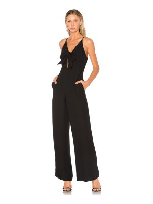 T by Alexander Wang Tie Front Wide Leg Jumpsuit