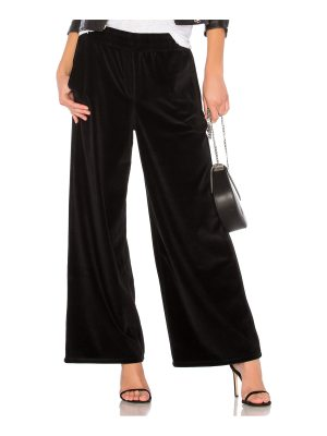 T by Alexander Wang Velour Wide Leg Pant
