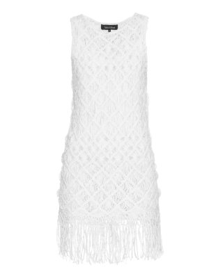 TABULA RASA Akoto macramé-weave fringed dress