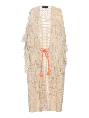 TABULA RASA Idris fringed knit cover-up