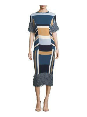 TABULA RASA Mahal Striped Midi Dress
