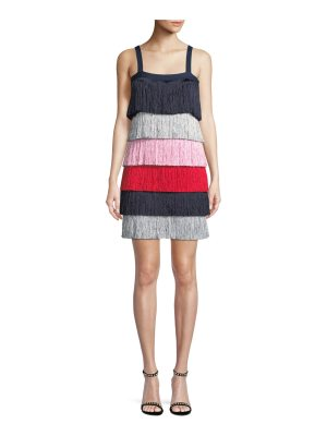 TABULA RASA Rafi Sleeveless Tiered Fringe Mini Dress