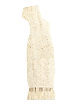 TABULA RASA Tuva hand-macramé silk and wool-blend dress