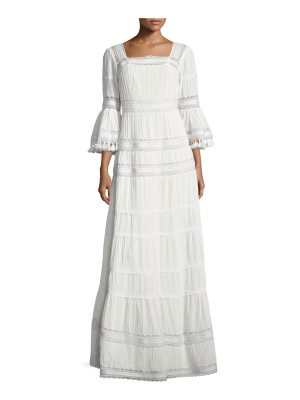 Talitha Collection Embroidered Cotton Prairie Maxi Dress