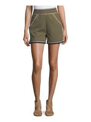 Talitha Collection Embroidered High-Waist Shorts