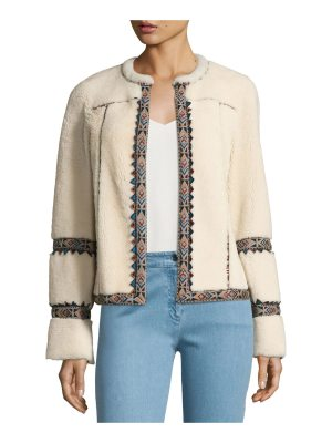 Talitha Collection Embroidered Shearling Jacket