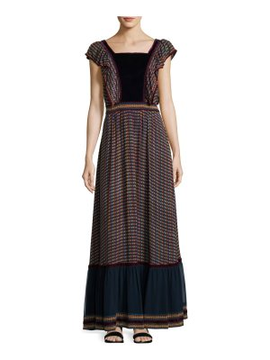 Talitha Collection Printed Silk Georgette Maxi Dress