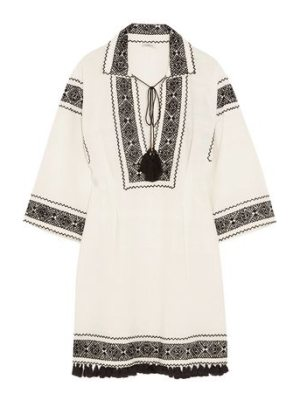 Talitha embroidered cotton tunic