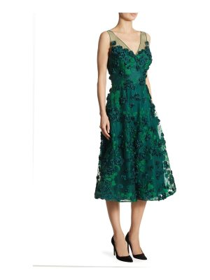 Teri Jon appliqued embroidered dress