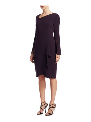 Teri Jon asymmetric neck sheath dress