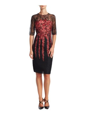 Teri Jon embroidered floral dress